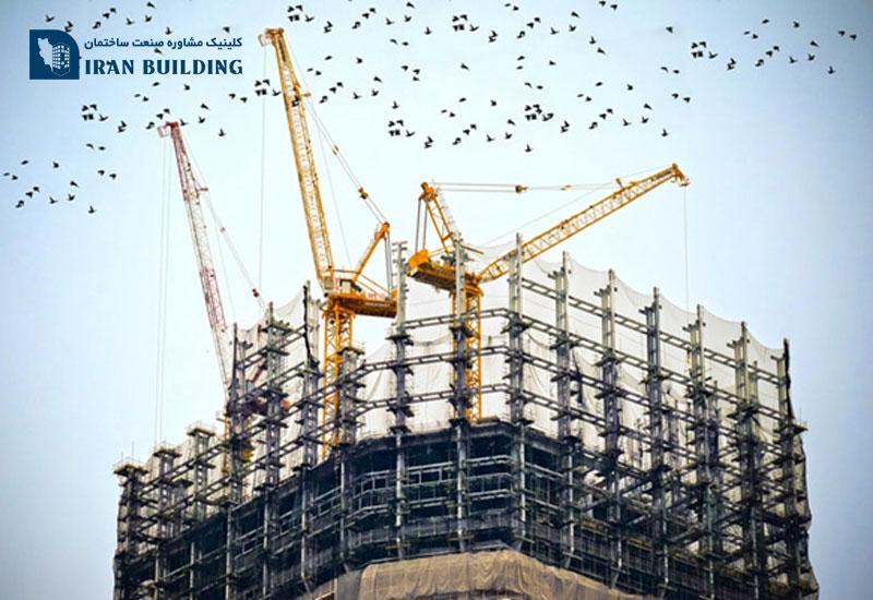 سیستم اسکلت ساختمان فولادی